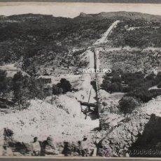 Fotografía antigua: MORATALLA, MURCIA, SIFON DE LOS CANALES DEL TAIBILLA, RARISIMA,164X108MM. Lote 38423016