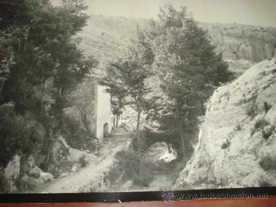 Fotografía antigua: Antigua Fotografia del Barranco LOS MOLINOS de IBI Año 1950-60s Tamaño Gigante Panoramico 101X66 cm - Foto 2 - 38585020