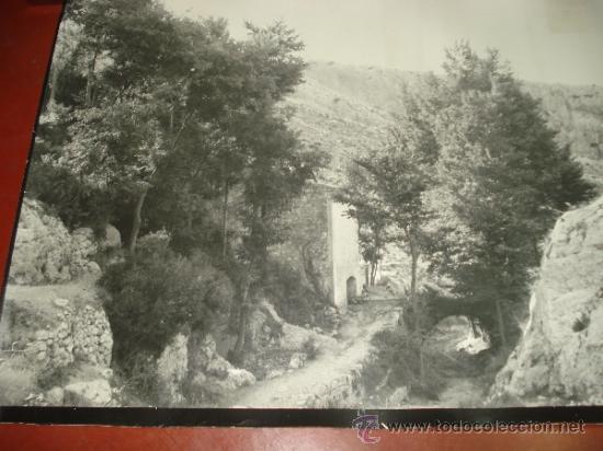 Fotografía antigua: Antigua Fotografia del Barranco LOS MOLINOS de IBI Año 1950-60s Tamaño Gigante Panoramico 101X66 cm - Foto 3 - 38585020