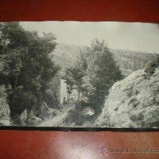 Fotografía antigua: ANTIGUA FOTOGRAFIA DEL BARRANCO LOS MOLINOS DE IBI AÑO 1950-60S TAMAÑO GIGANTE PANORAMICO 101X66 CM. Lote 38585020