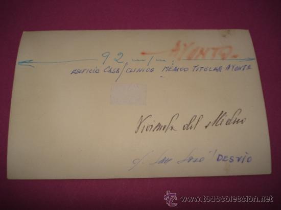 Fotografía antigua: Antigua Fotografia del Edifico Casa Clinica Medico Titular del Ayuntamiento de IBI en el Año 1960s. - Foto 2 - 38677700