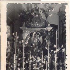 Fotografía antigua: ALCALA DE LOS GAZULES,1949,VIRGEN DE LOS SANTOS, EN ROGATIVA EN LA PARROQUIA DEL PUEBLO,75X60MM. Lote 40192940