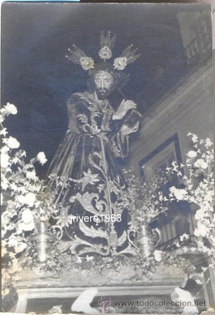ALCALA DE LOS GAZULES,1965,NTRO PADRE JESUS NAZARENO,76X52MM (Fotografía Antigua - Fotomecánica)