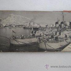 Fotografía antigua: DOS BARCOS NORTEAMERICANOS EN EL PUERTO DE ALICANTE.F-003. Lote 38770377