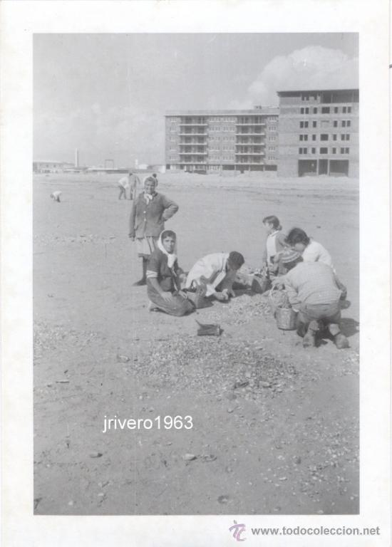 MURCIA, LA MANGA DEL MAR MENOR, CIRCA 1960, PRECIOSA ESTAMPA DE PLAYA,108X75MM (Fotografía Antigua - Fotomecánica)
