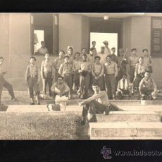 Fotografía antigua: CUBA. FOTOGRAFIA DE GRUPO DE MILICIANOS. 15 X 10CM.. Lote 39275054