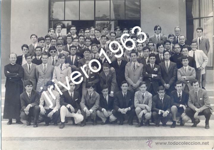 SEVILLA, COLEGIO PORTACELI, PROMOCION 1969, PREU-C,MAGNIFICA 24X16,5CMS (Fotografía Antigua - Fotomecánica)