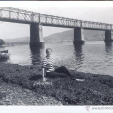 Fotografía antigua: EL FERROL, AÑOS 50, PUENTE DE NEDA,90X66MM. Lote 39650830