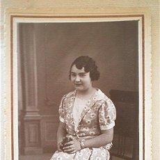Fotografía antigua: FOTO DE JOVEN. 1933. VICENTE CRESPO (VALENCIA). Lote 39981250