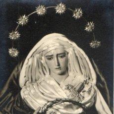 Fotografía antigua: FOTOGRAFIA ANTIGUA -SEMANA SANTA-VIRGEN DE LA HINIESTA. Lote 40139099