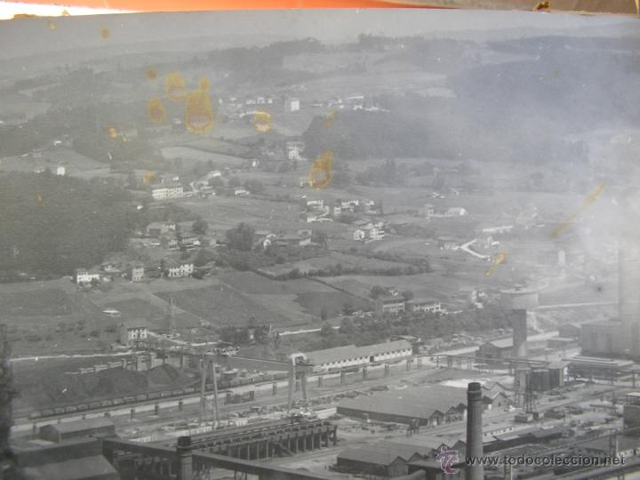 Fotografía antigua: FOTOGRAFIA AEREA AÑO 1961-ENSIDESA-FACTORIA AVILES ASTURIAS,GRAN FORMATO 60X50 CM - Foto 9 - 40367911
