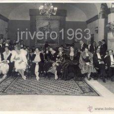 Fotografía antigua: SEVILLA, 1929, RECEPCION ALFONSO XIII CON MOTIVO DE LA INAUGURACION DE LA EXPOSICION,175X123MM. Lote 40379621