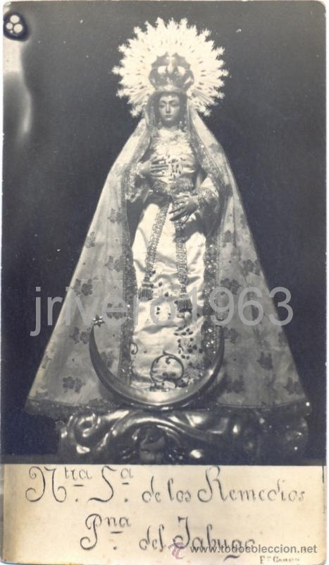 NTRA.SRA.DE LOS REMEDIOS, PATRONA DE JABUGO, HUELVA, ANTIQUISIMA FOTOGRAFIA,87X154MM (Fotografía Antigua - Fotomecánica)