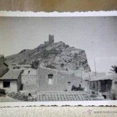 Fotografía antigua: FOTOGRAFIA ANTIGUA, PUEBLO, TORRE, TROQUELADA, 6 X 8 CM. Lote 41020440