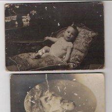 Fotografía antigua: 3 FOTOS ANTIGUAS DE NIÑOS. Lote 41142556