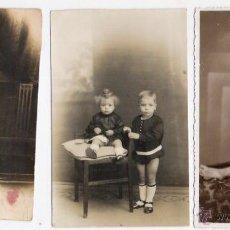 Fotografía antigua: 3 FOTOS ANTIGUAS DE NIÑOS. Lote 41142588
