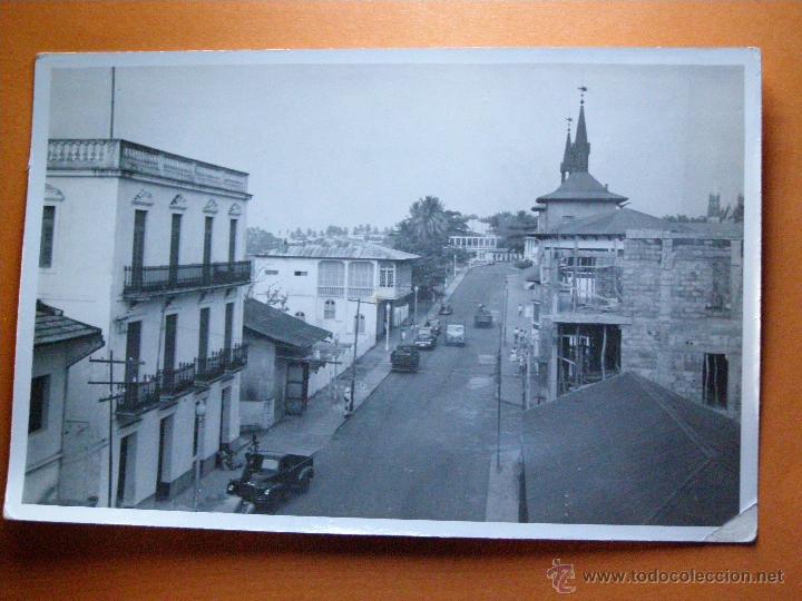 FOTOGRAFÍA - SANTA ISABEL DE FERNANDO POO - AVDA. DEL GENERAL MOLA - IMPRENTA COLONIAL - (Fotografía Antigua - Fotomecánica)