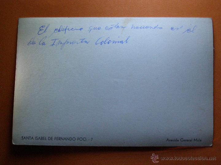 Fotografía antigua: Fotografía - Santa Isabel de Fernando Poo - Avda. del General Mola - Imprenta colonial - - Foto 2 - 41235699