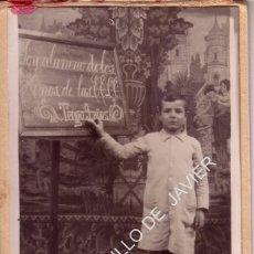 Fotografía antigua: ANTIGUA FOTOGRAFÍA RECUERDO DEL COLEGIO - 9X14 CM. Lote 41405611