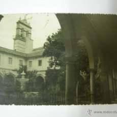 Fotografía antigua: ANTIGUA FOTOGRAFIA DE CABRA ( CORDOBA), REVERSO, EMISORA SINDICAL RADIO ATALAYA, BOINAS ROJAS,2. Lote 41734747