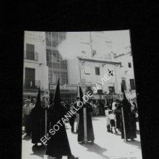 Fotografía antigua: SEMANA SANTA SEVILLA, FOTOGRAFIA DE 18X12 CM - CRUZ DE GUIA HDAD DE LA CARRETERIA. Lote 41762259