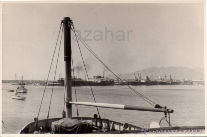 MALAGA,1954, PRECIOSA FOTOGRAFIA DEL PUERTO, 175X115MM (Fotografía Antigua - Fotomecánica)