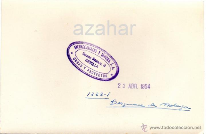 Fotografía antigua: MALAGA,1954, PRECIOSA FOTOGRAFIA DEL PUERTO, 175X115MM - Foto 2 - 41766227