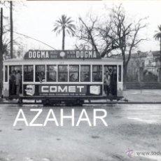 Fotografía antigua: SEVILLA,1959, TRANVIA EN LA MACARENA, LINEA PUERTA OSARIO-MACARENA,140X90MM. Lote 42173731