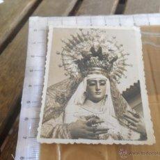 Fotografía antigua: FOTO SANTISIMA VIRGEN DE LOS DOLORES ESPARTINAS SEVILLA. Lote 42209900