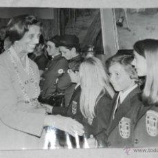 Fotografía antigua: FOTOGRAFIA DE DOÑA CARMEN POLO DE FRANCO . MIDE 24 X 18 CMS.. Lote 42240975