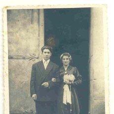 Fotografía antigua: FOTOGRAFÍA AÑOS 50 – 60 -- BODA NOVIOS. Lote 42354148