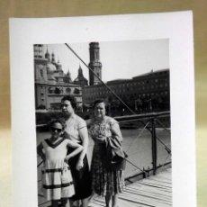 Fotografía antigua: FOTOGRAFIA, FOTO ANTIGUA, ZARAGOZA, RIO EBRO, 12 X 9 CM. Lote 42478413