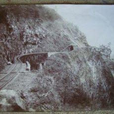 Fotografía antigua: FERROCARRIL MEXICANO TUNEL DEL INFIERNILLO ANTIGUA 24X17. Lote 42689735