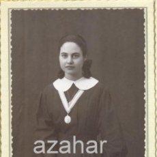 Fotografía antigua: SEVILLA,1942, PRECIOSA FOTOGRAFIA DE UNA POSTULANTA, FOT.FRANZIS,86X136MM. Lote 43222341