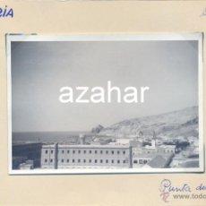 Fotografía antigua: ALMERIA, AÑOS 50-60, VISTAS.CASTILLO DE SAN TELMO AL FONDO, 100X70MM. Lote 43261311