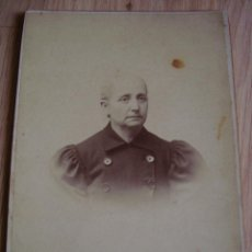Fotografía antigua: ANTIGUA FOTO DE MUJER, HECHA EN CORDOBA EN E. ALMENARA, FOTO CARTON 10,5 X 16,2 CM.. Lote 43348426
