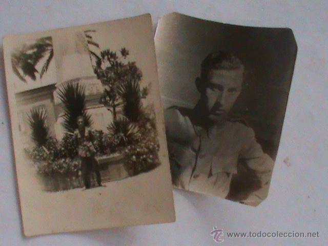 LOTE DE 2 FOTOS DE MILITAR BRIGADA TOPOGRAFICA . EPOCA ALFONSO XIII (Fotografía Antigua - Fotomecánica)