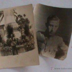 Fotografía antigua: LOTE DE 2 FOTOS DE MILITAR BRIGADA TOPOGRAFICA . EPOCA ALFONSO XIII. Lote 43366345