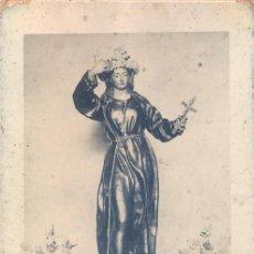 Fotografía antigua: ALCOLEA, ALMERIA, SANTA ROSA DE VITERBO, ANTIQUISIMA FOTOGRAFIA EN CARTON,126X206MM. Lote 43500969