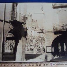 Fotografía antigua: (FOT-577)FOTOGRAFIA DE BALAGUER-PLAZA MERCADAL. Lote 43580875
