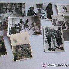 Fotografía antigua: LOTE DE 10 FOTOS DE FAMILIAS CON NIÑOS PEQUEÑOS . AÑOS 30- 40 Y 50... Lote 222503786