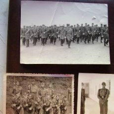 Fotografía antigua: LOTE DE 3 FOTOGRAFIAS MILITARES ESPAÑOLES ... Lote 43912828