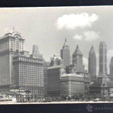 Fotografía antigua: FOTOGRAFIA ANTIGUA DE NUEVA YORK. VISTA PARCIAL. RASCACIELOS. 13 X 18CM.. Lote 44038709