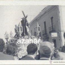 Fotografía antigua: SEMANA SANTA DE SEVILLA, 1973, PASO DE CRISTO HERMANDAD DE SAN ROQUE, 105X75MM. Lote 44084570