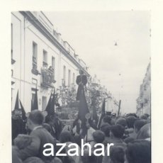 Fotografía antigua: SEMANA SANTA DE SEVILLA, 1971, PASO DE CRISTO HERMANDAD SANTA GENOVEVA,75X105MM. Lote 44084601