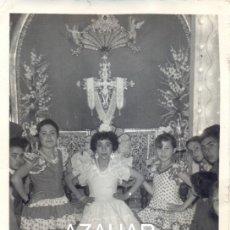 Fotografía antigua: SEVILLA, AÑOS 40, UNA CRUZ DE MAYO, FOT.LOPEZ 72X106MM. Lote 44112786