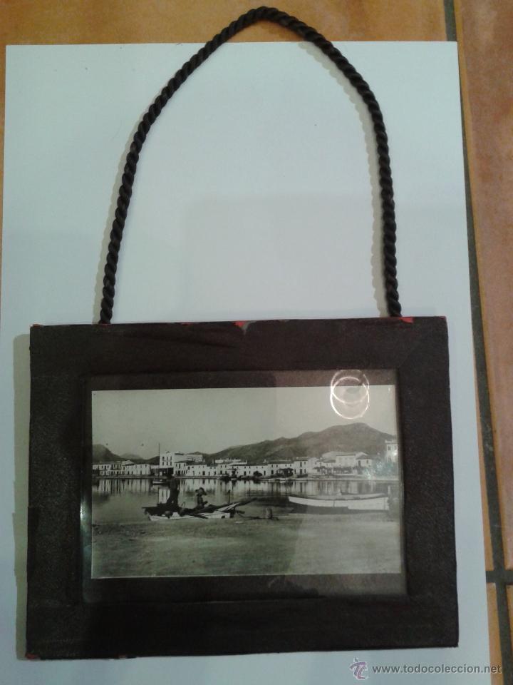 antigua foto de puerto en blanco y negro enmarc - Comprar Fotografía ...
