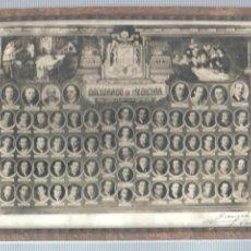 Fotografía antigua: ESPECIE DE FOTO ENMARCADA PROMOCIÓN DEL DOCTORATO DE MEDICINA- MADRID - 1947 - MEDICOS . Lote 44322712