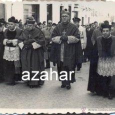 Fotografía antigua: BADAJOZ, 1955, ENTRADA DEL OBISPO COADJUTOR POR PRIMERA VEZ,RARISIMA,78X60MM. Lote 44344616