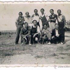 Fotografía antigua: GRUPO DE MILICIANOS ? GUERRA CIVIL - CASA ESCUDER. Lote 44352513